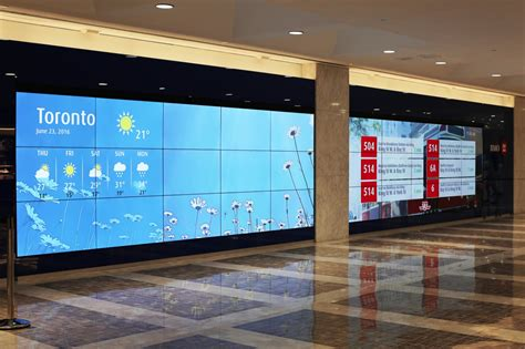 digital wall bmo unveils flagship video wall sign media