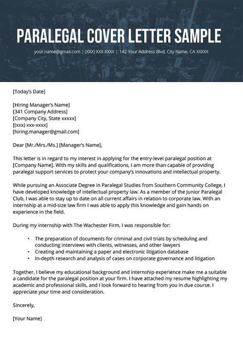 paralegal cover letter resume genius
