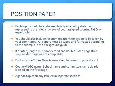 how to write a position paper model un base delegate course position paper