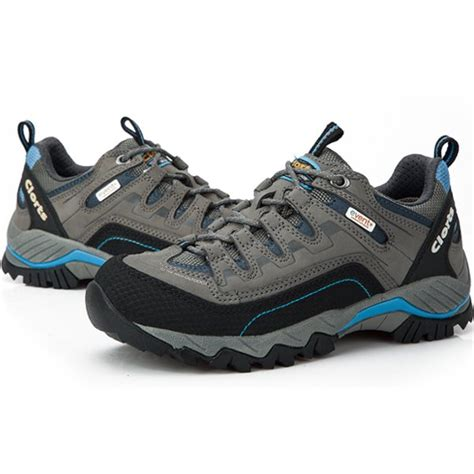 clorts waterproof breathable leather walking shoes