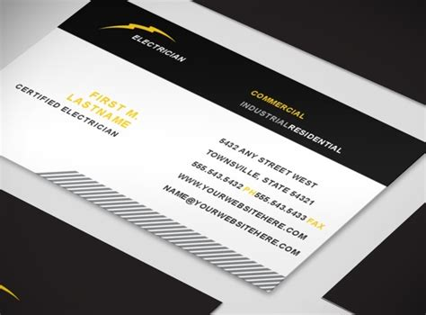 electrician business card template document moved