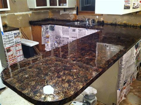 Imitation Granite Countertop by Diy Why Spend More Faux Granite Countertops