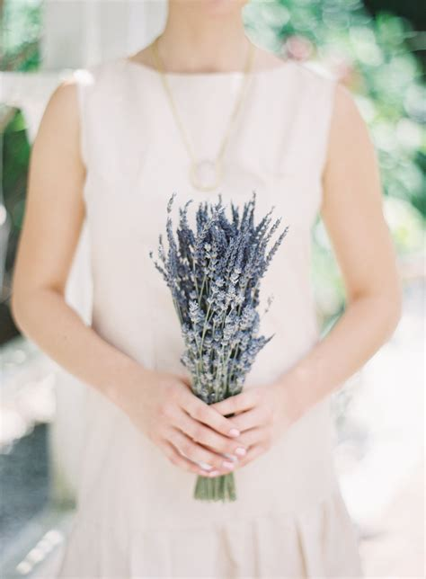 Simple Wedding Bouquets by Simple Wedding Bouquet Of Dried And Lavender