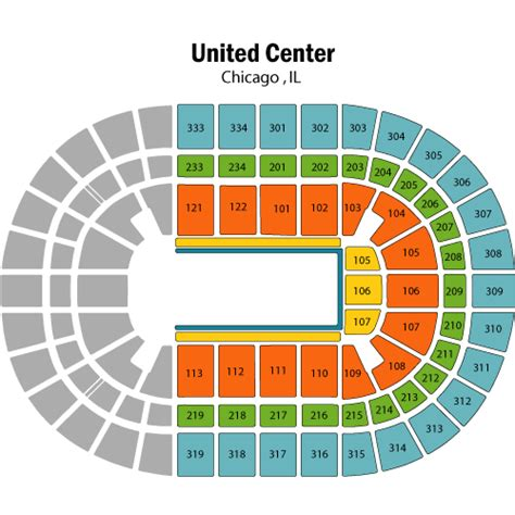 united center seating map disney on mickey minnie s magical journey september 11 tickets chicago united center