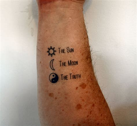 the truth tattoo the sun the moon the temporary by