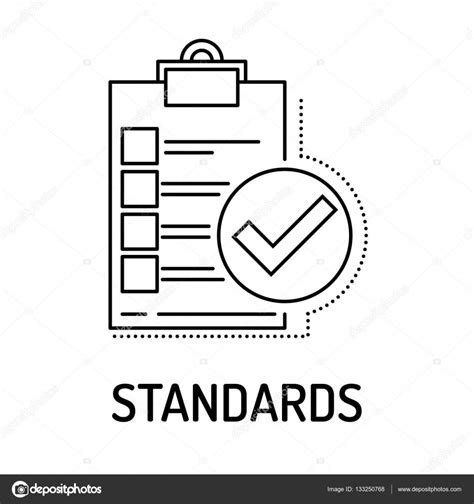 icon design standards standards line icon stock vector 169 garagestock 133250768