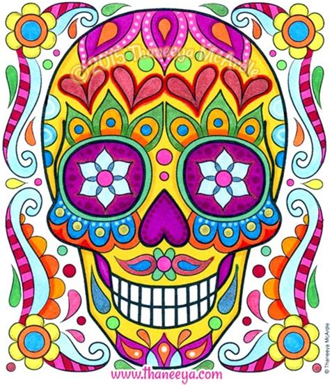 skull color free sugar skull coloring page printable day of the dead