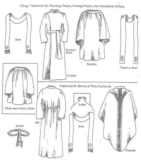coloring pages catholic mass clergy vestments for morning prayer evening prayer and