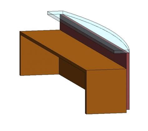 Revit Reception Desk Revit Reception Desk 3d Revit Model Glass Reception Desk Cadblocksfree Cad Blocks Free