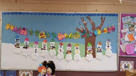 winter bulletin board snowman arts crafts  nursery