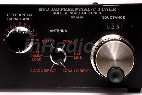 mfj 986 3kw roller inductor antenna tuner 1 8 30 mhz worldwide delivery mfj986 ebay