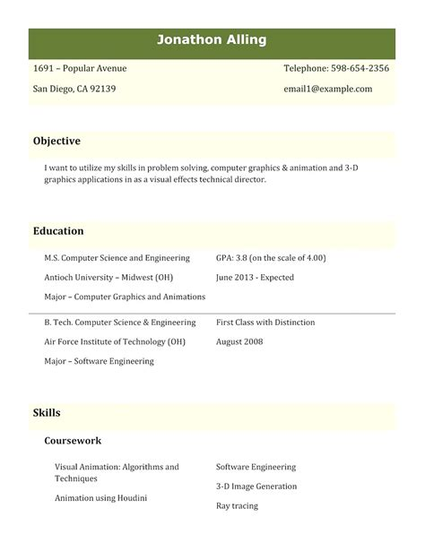 best resume format for computer engineers best best resume format for computer engineers