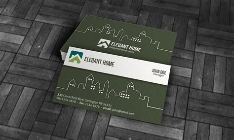 modern real estate business card template 187 free download