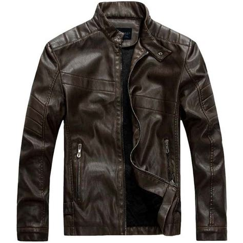 fall motorcycle jacket autumn winter mens fall jacket pu leather casual slim