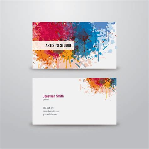Free Business Card Templates Artwork by Artist Business Card Graphic Available In Eps Vector