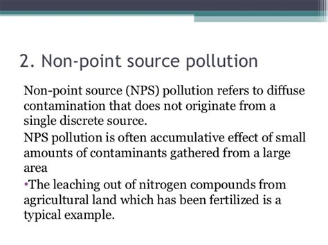 groundwater gt point source pollution