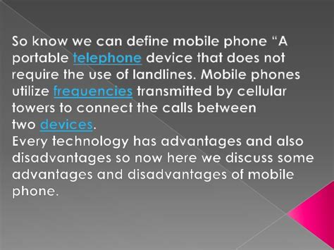 Advantages Of Cell Phones Essay by Advantage And Disadvantage Of Telep
