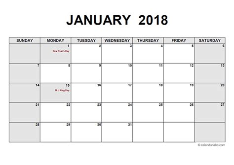 2018 Monthly Calendar Pdf Free Printable Templates Writable Calendar Template