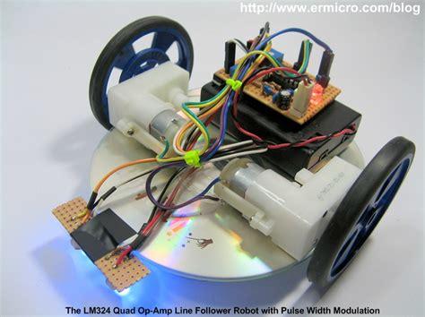 membuat robot sensor the lm324 quad op amp line follower robot with pulse width