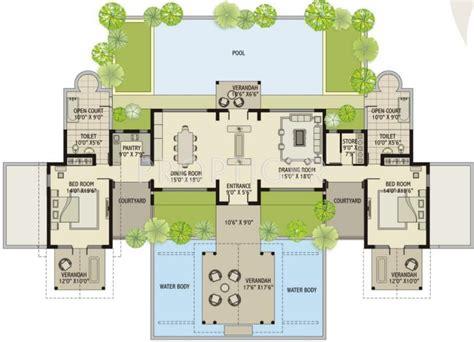 Indian Villa Designs Floor Plan Layout | luxury villa floor plans india