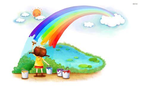 painting rainbow painting the rainbow wallpaper