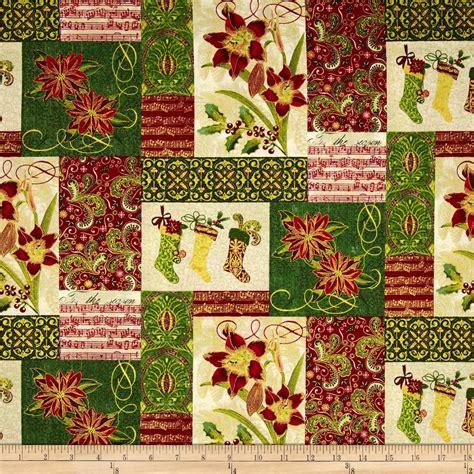 Cheap Patchwork Fabric - tis the season patchwork green discount designer