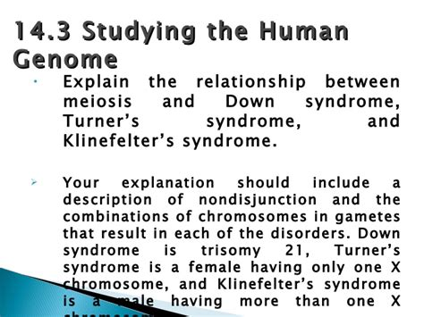 Chapter 14 The Human Genome Section Review 14 2 by Chapter 14 Assessment Review