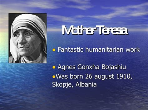 biography of mother teresa ppt mother teresa