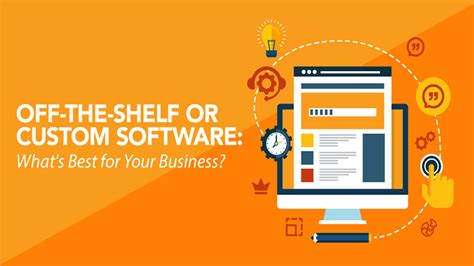What Does The Shelf Software by The Shelf Vs Custom Software Infographic