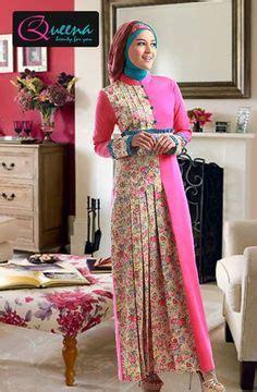 Pakaian Gaun Rok Dress Maxi Queena Outer Terbaru Cantik model baju gamis batik kombinasi terbaru trend baju