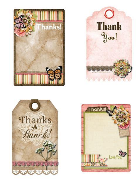printable tags thank you printable thank you tags pink polka dot creations