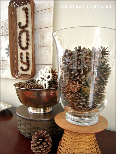 pine cones  snowflakes winter decor  week