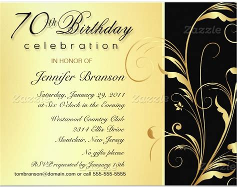 70th Birthday Party Invitation Wording Dolanpedia Invitations Ideas 70th Birthday Invitation Templates