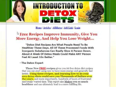 Detox Diet Free Trial by Free Detox Diet Recipes To Increase Your Energy