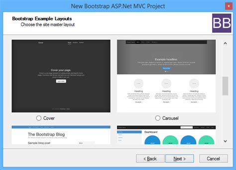 mvc templates introducing the bootstrap bundle for asp net mvc