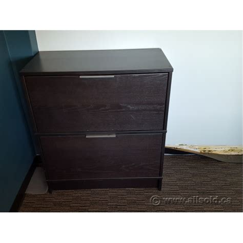 Two Drawer Filing Cabinet Ikea Ikea Effektiv Espresso 2 Drawer Lateral File Cabinet Locking Allsold Ca Buy Sell Used