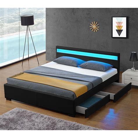 futonbett schwarz 140x200 polsterbett lyon mit bettkasten 180 x 200 cm schwarz