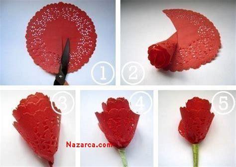 How To Make Flowers Out Of Paper Doilies - ka苙it dantel 莢le har莢ka g 220 l yapimi nazarca