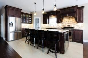 Paint Kitchen Cabinets Black Dark Maple Kitchen Cabinets Quicua Com