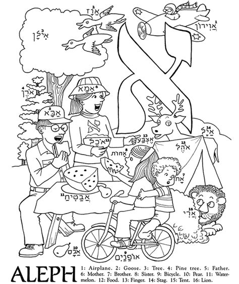 coloring pages hebrew letters free coloring pages of hebrew alphabet
