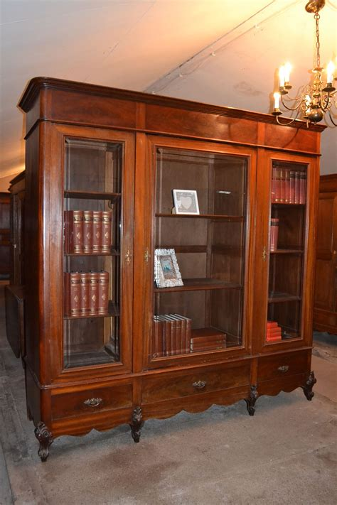 boekenkast mahonie grote antieke mahonie bibliotheekkast boekenkast www