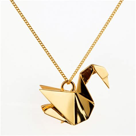 Origami Necklaces Pendants - origami animals jewelry