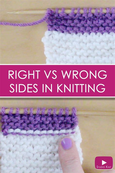 rs knitting right wrong side rs vs ws knitting lessons for