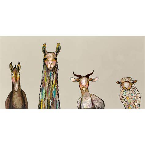 King Size Bedroom Sets On Sale greenbox art donkey llama goat sheep on cream by eli