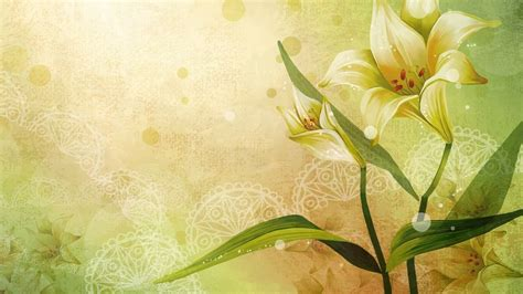 wallpaper flower poetry 壁紙画像 187 百合の花 the lily