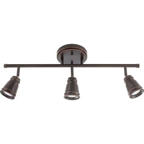 Lithonia Lighting Pepper Mill 3 Light Oil Rubbed Bronze Track Lighting Fixture with LED Bulbs
