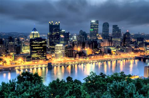 Pittsburgh To Pittsburgh Pa Early Am Skyline Hdr 171 Places 2 Explore