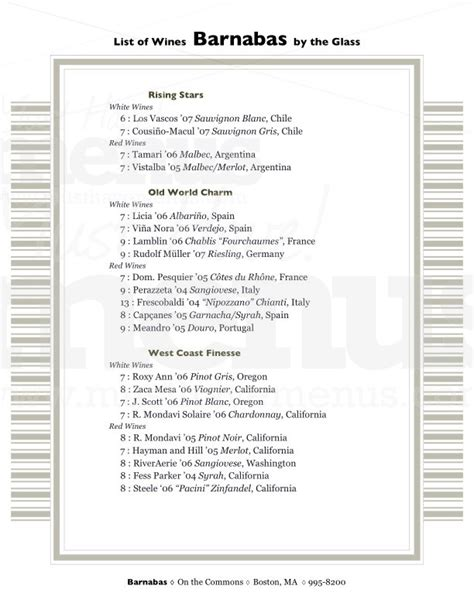 wine list template images