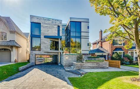 impressive modern home in toronto canada 4 3 million for a modern lawrence park mansion with a