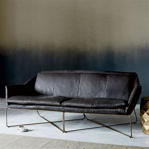 Origami Sofa - origami leather sofa 83 quot west elm